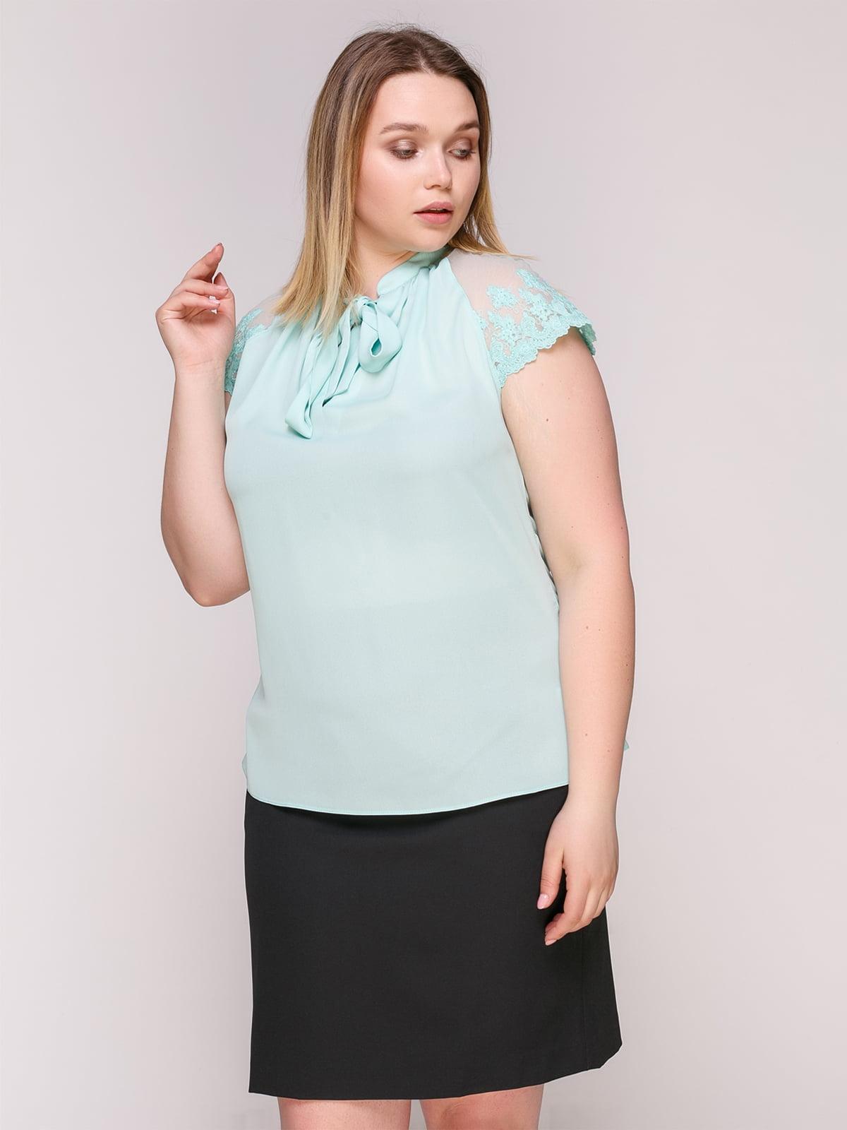 Блуза-боди бирюзовая   4950628