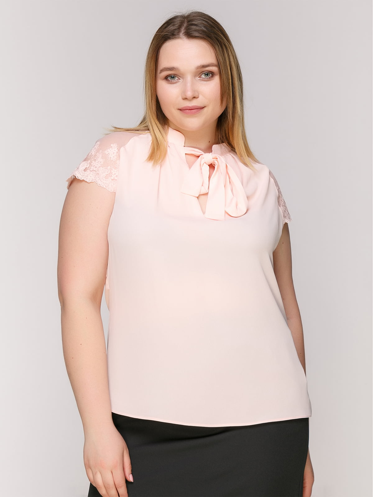 Блуза-боди розовая | 4950627