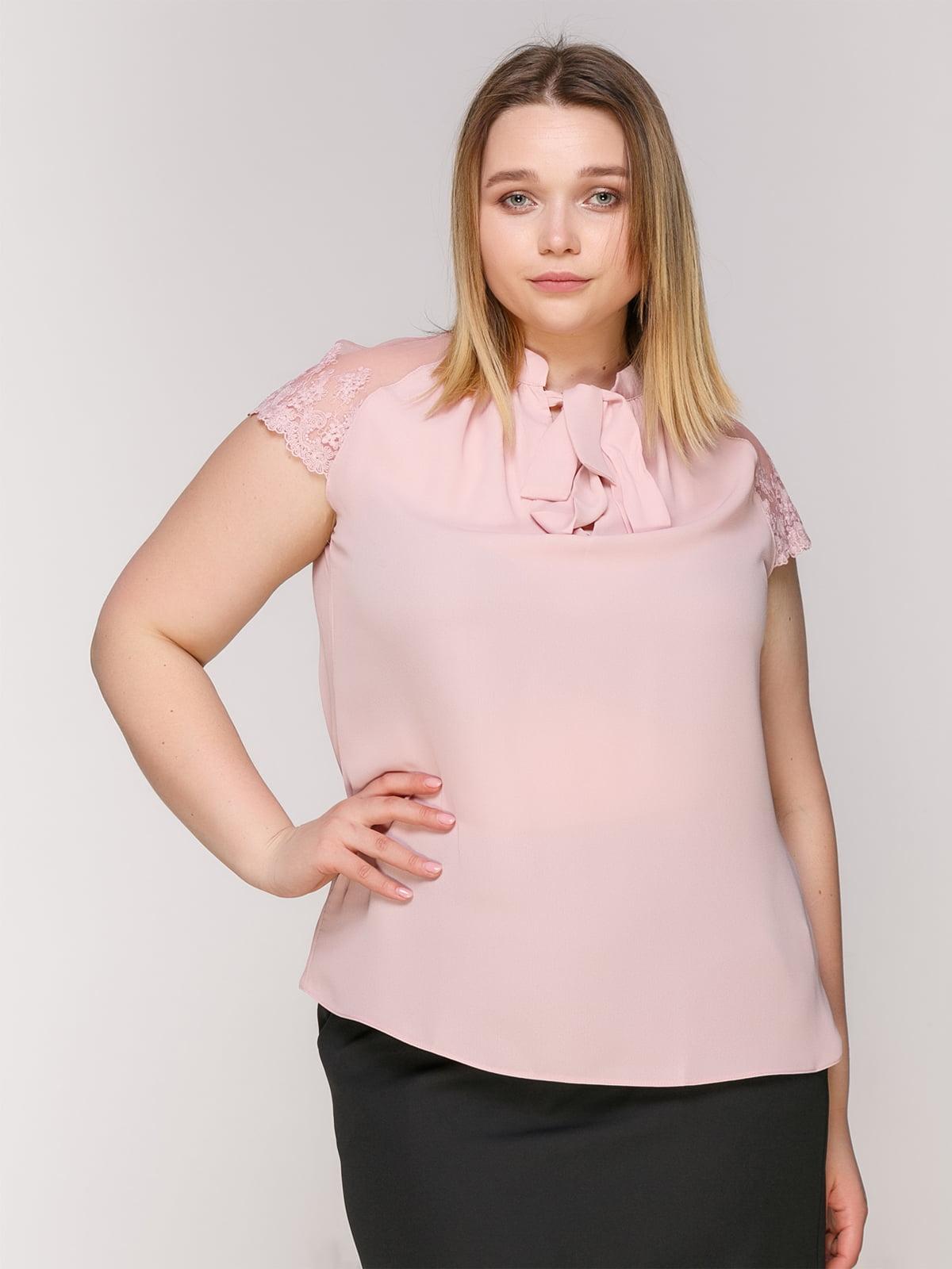 Блуза-боди розовая | 4950626