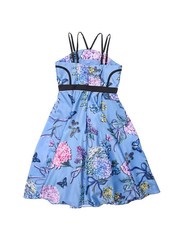 Платье голубое в принт | 4971344 | фото 2