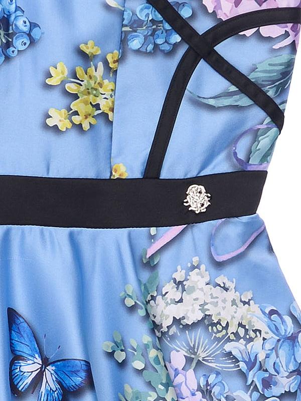 Платье голубое в принт | 4971344 | фото 3