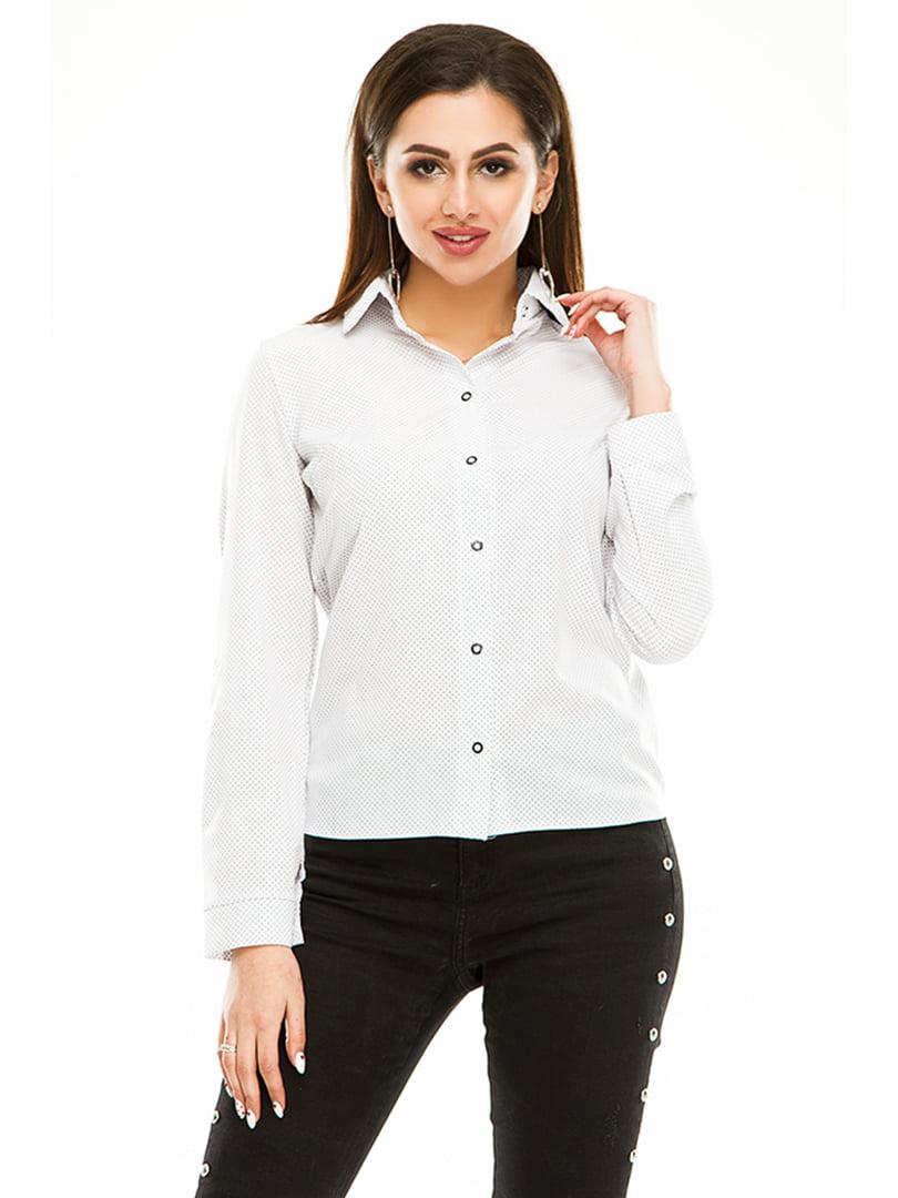 Сорочка біла в горошок | 4973529