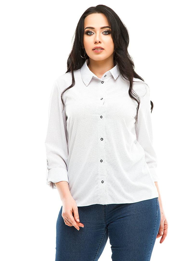Рубашка белая в горошек | 4973530