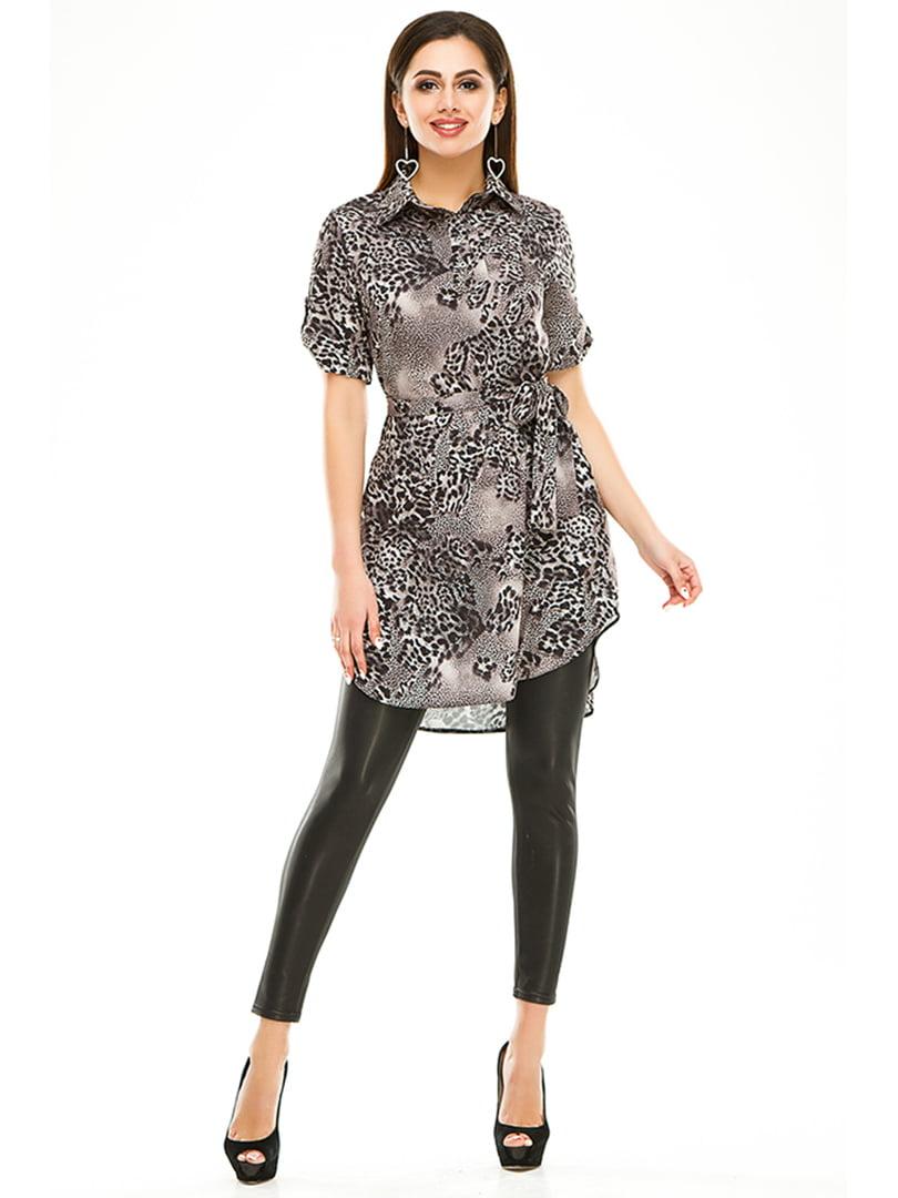 Сукня-туніка в анімалістичного забарвлення | 4973540