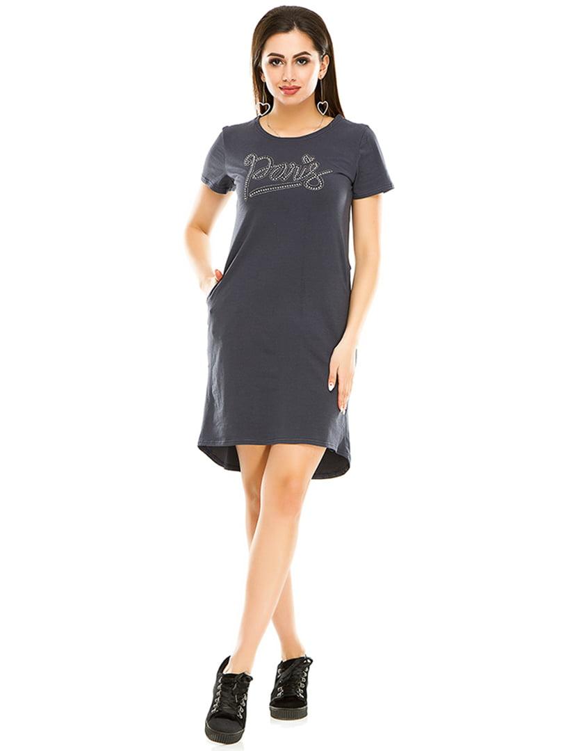 Платье темно-серое   4973560