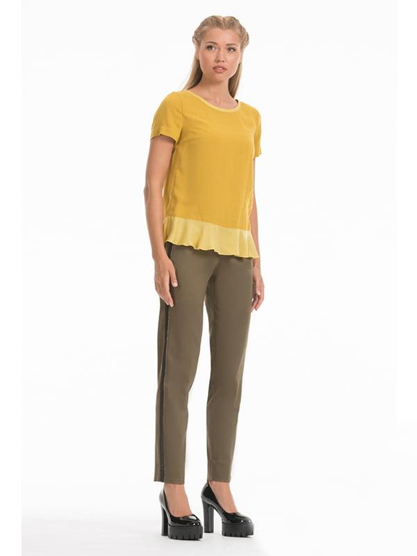 Блуза гірчичного кольору | 4518999