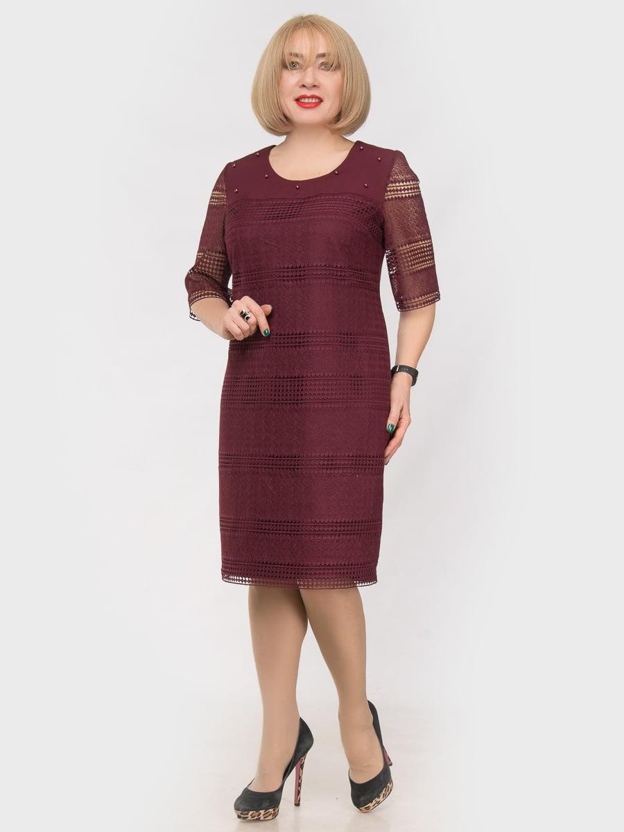 Платье цвета марсала   4975268