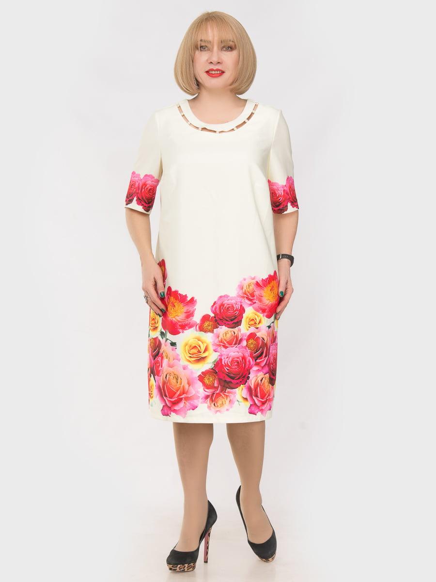Платье желтое с цветочным принтом | 4975272