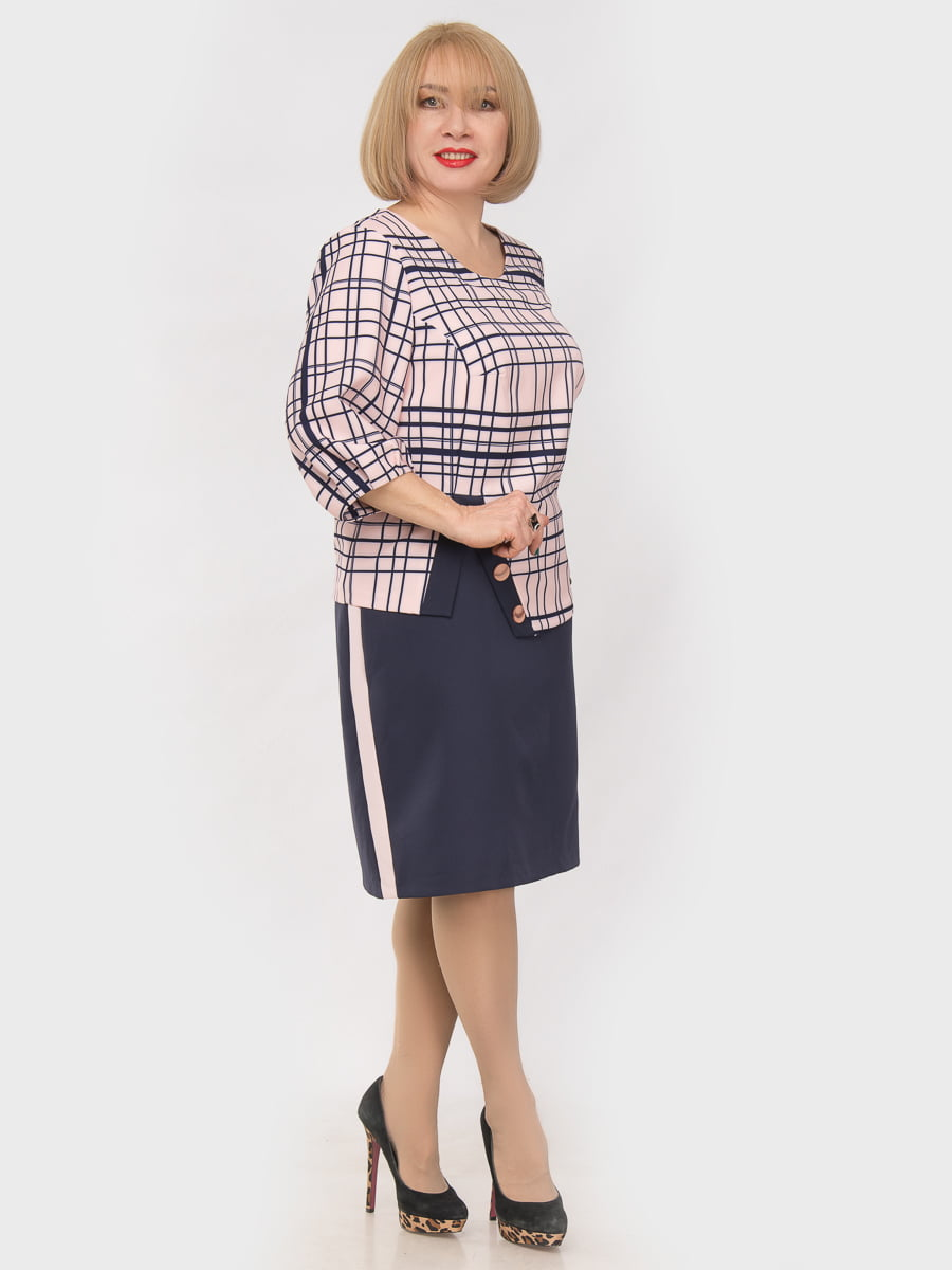 Сукня двоколірна | 4975283