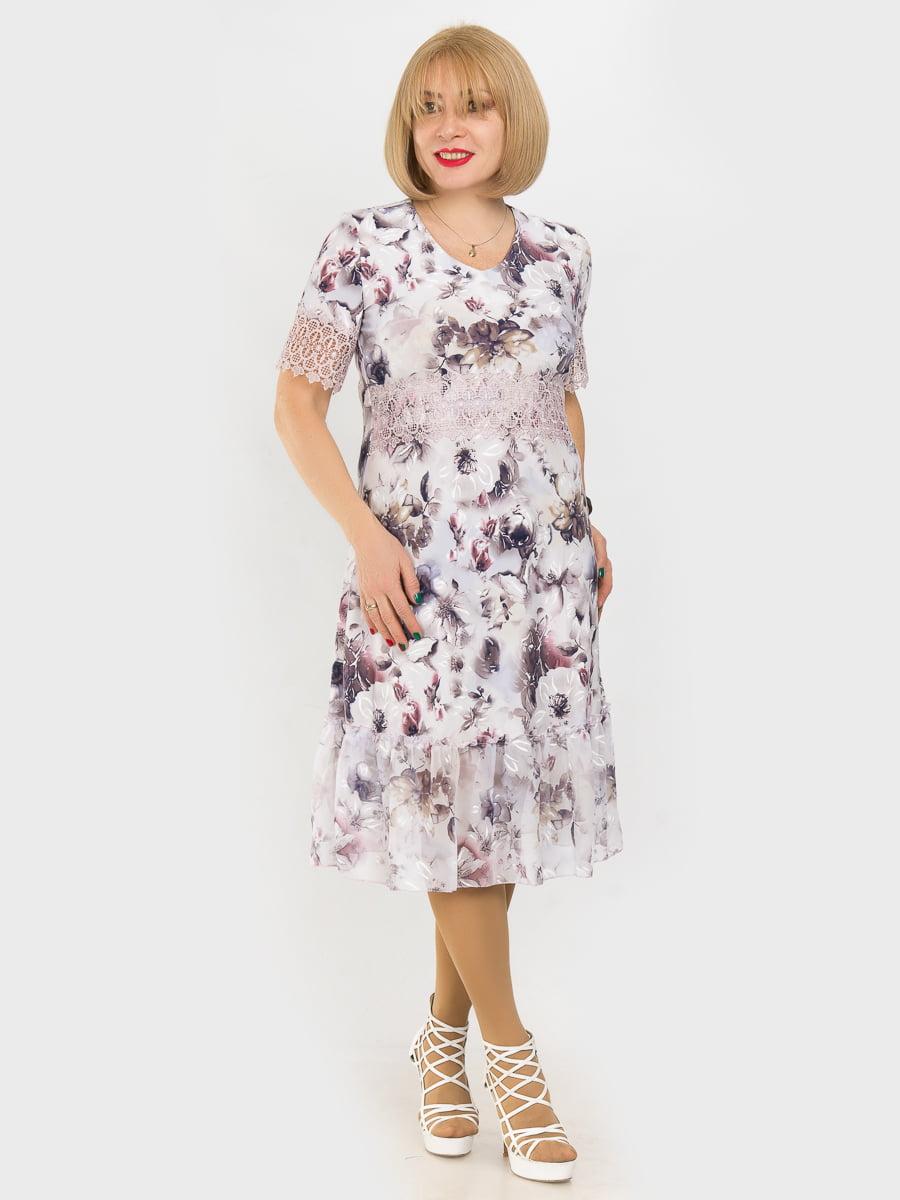 Платье в цветочный принт   4975318