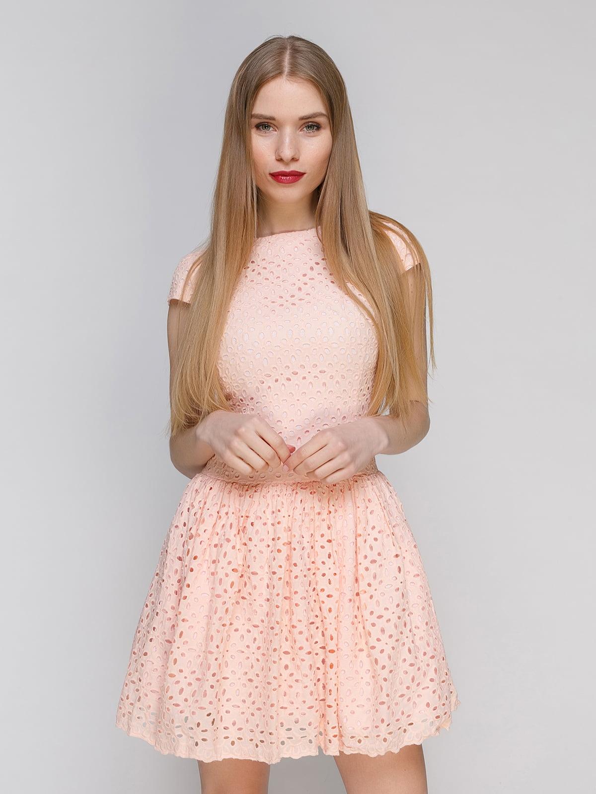 Платье персикового цвета | 4911112