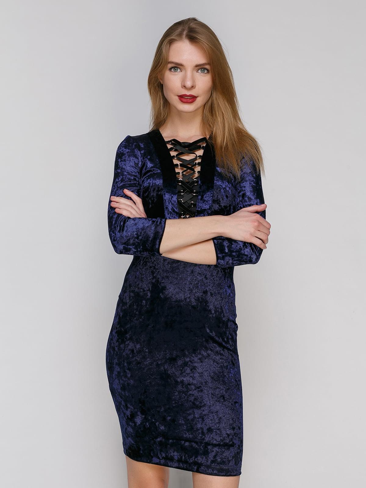 Сукня темно-синя | 4910737