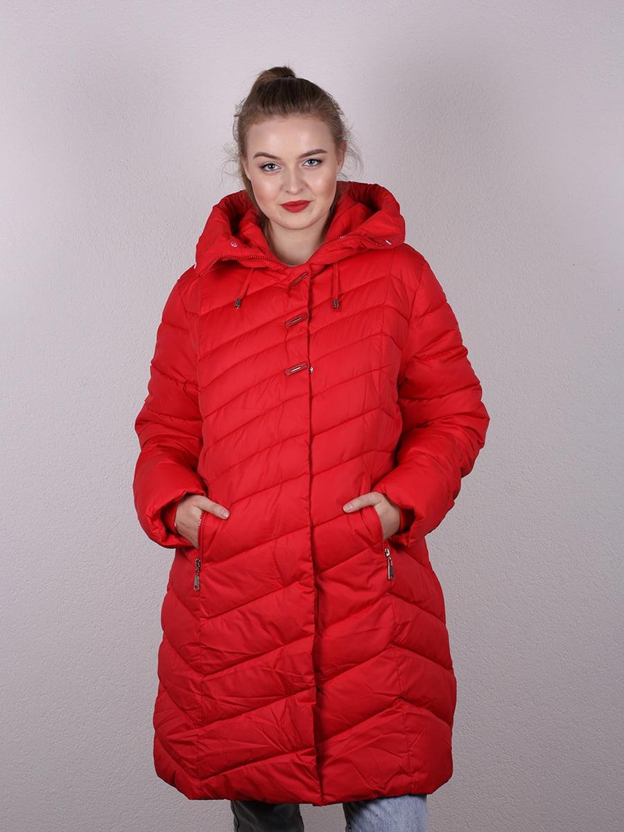 Пальто красное   4977699