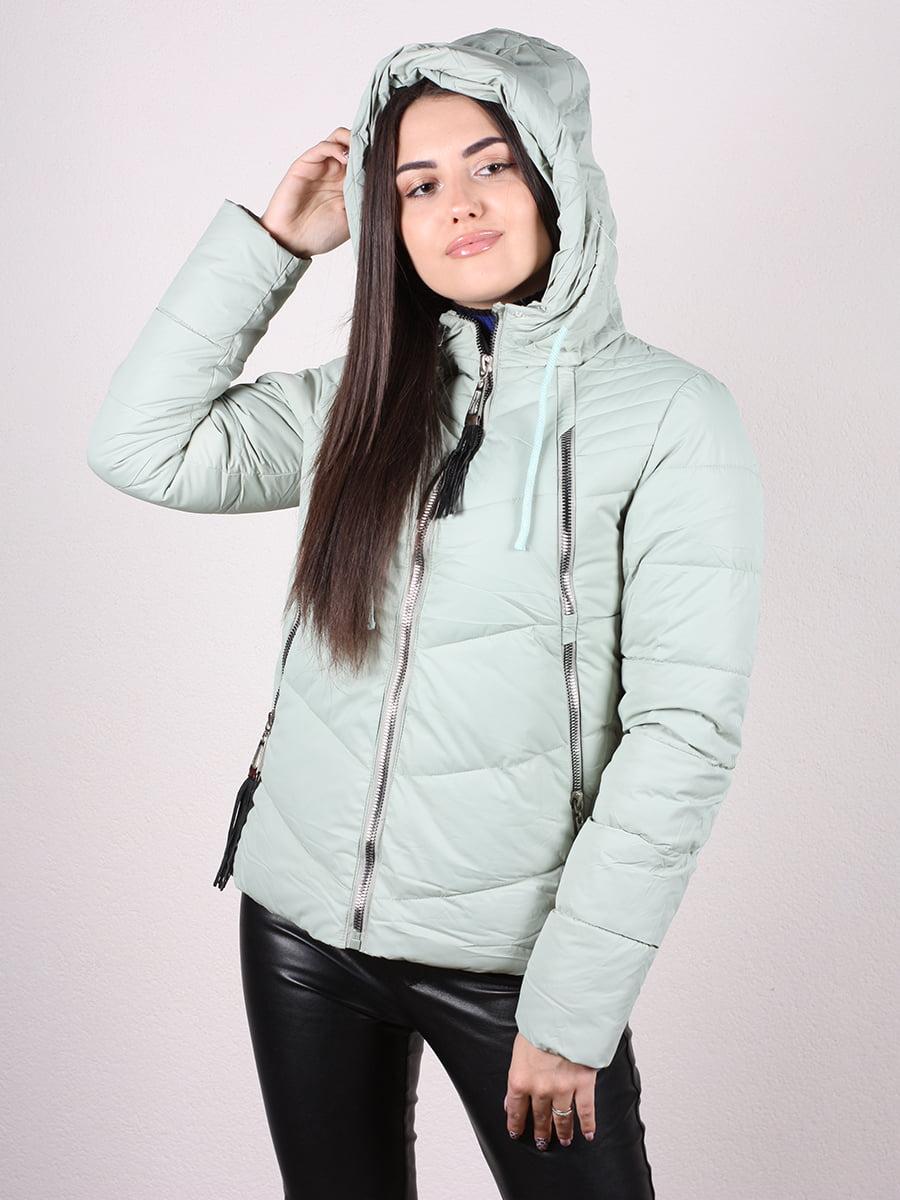Куртка мятного цвета | 4977707 | фото 4