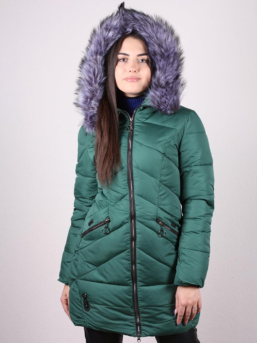 Пальто зеленое | 4977708 | фото 3