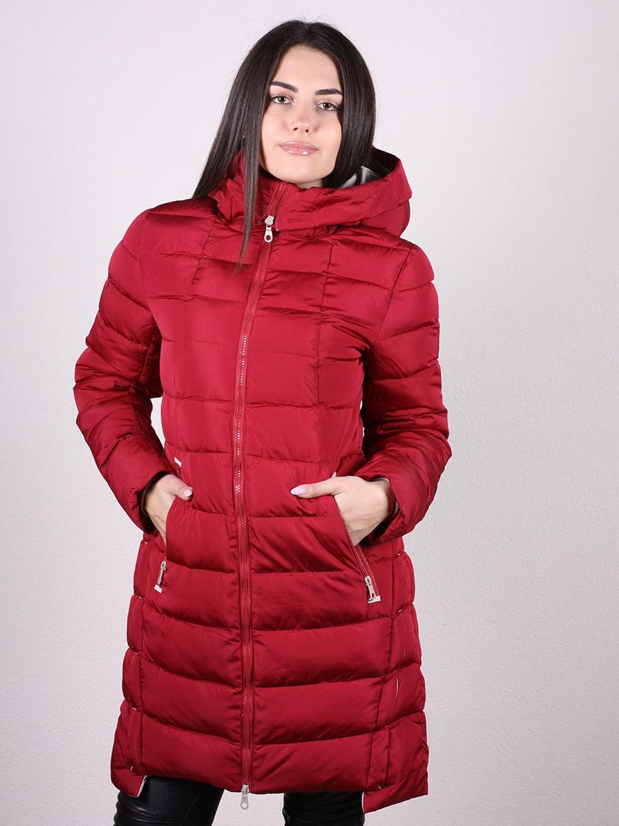 Пальто бордовое | 4977716