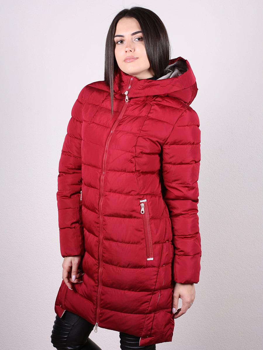 Пальто бордовое | 4977716 | фото 2