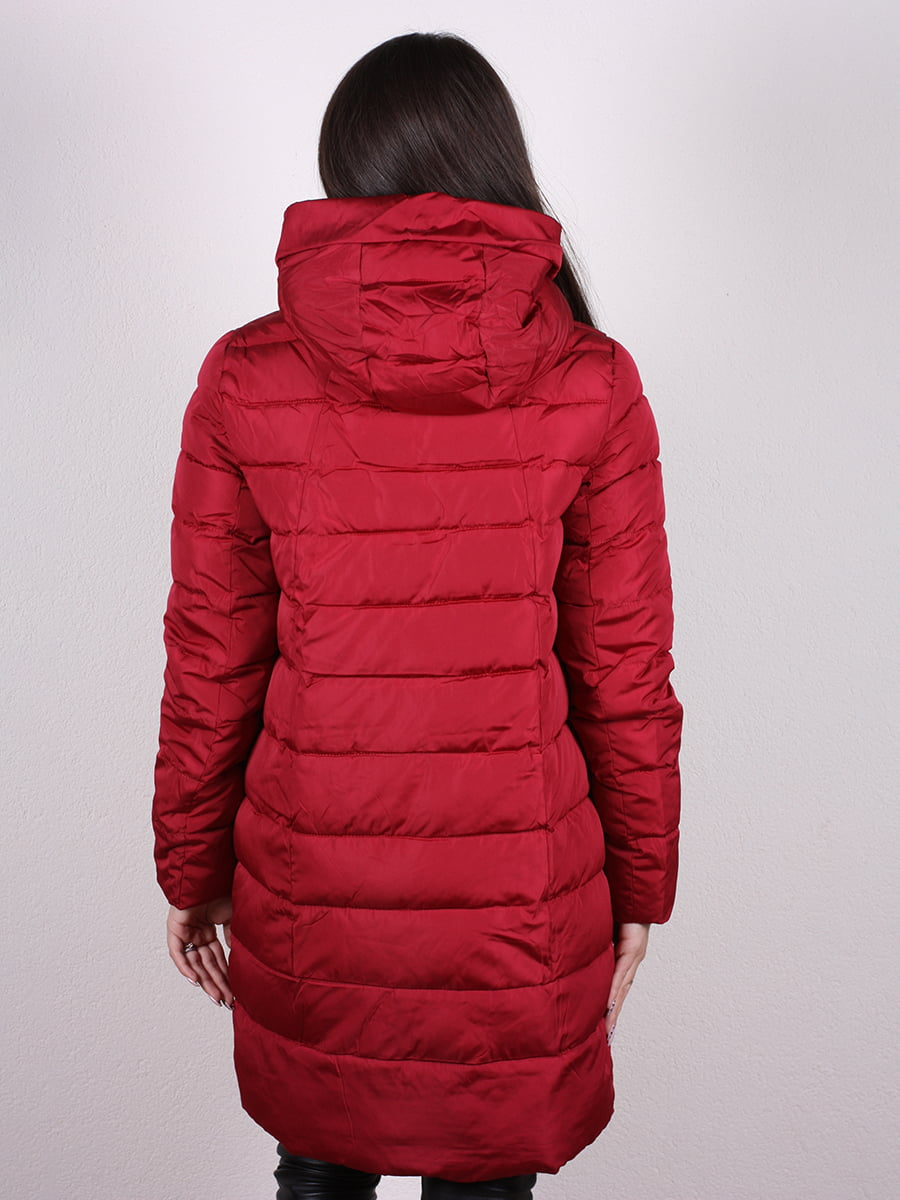 Пальто бордовое | 4977716 | фото 3