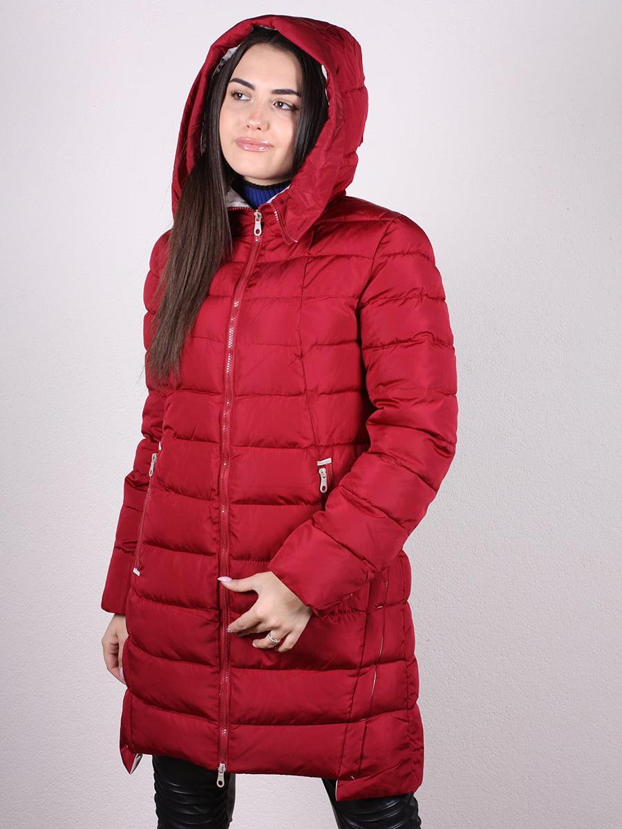 Пальто бордовое | 4977716 | фото 4