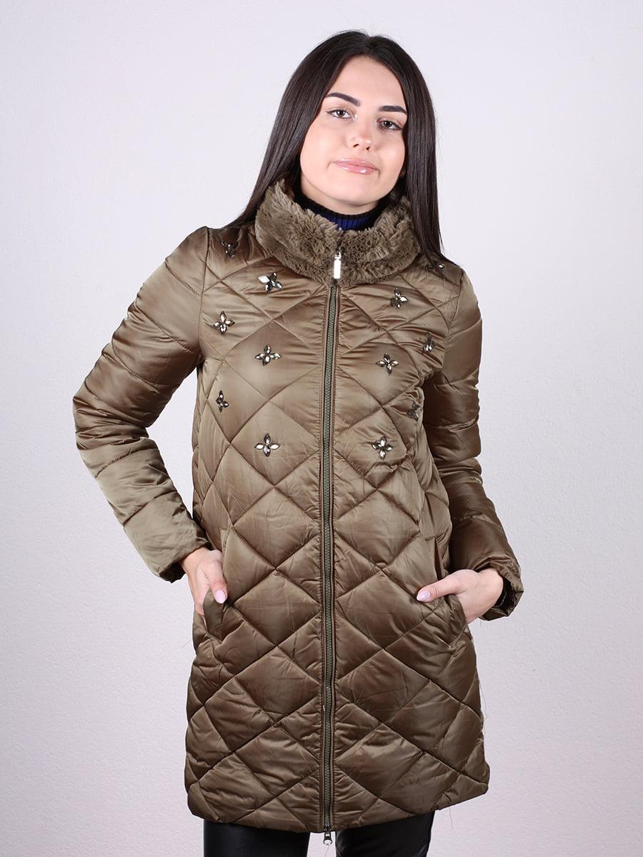 Пальто оливкового цвета | 4977720