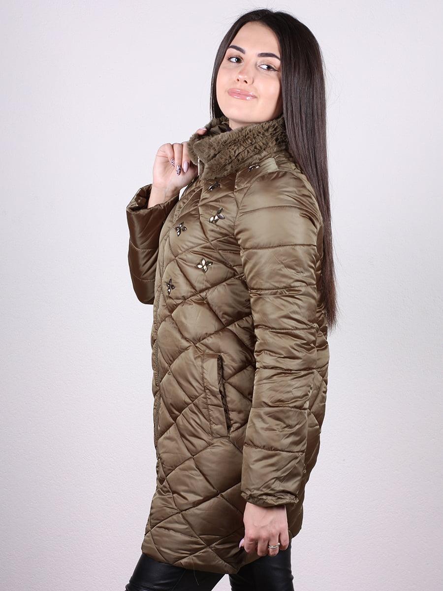 Пальто оливкового цвета   4977720   фото 2