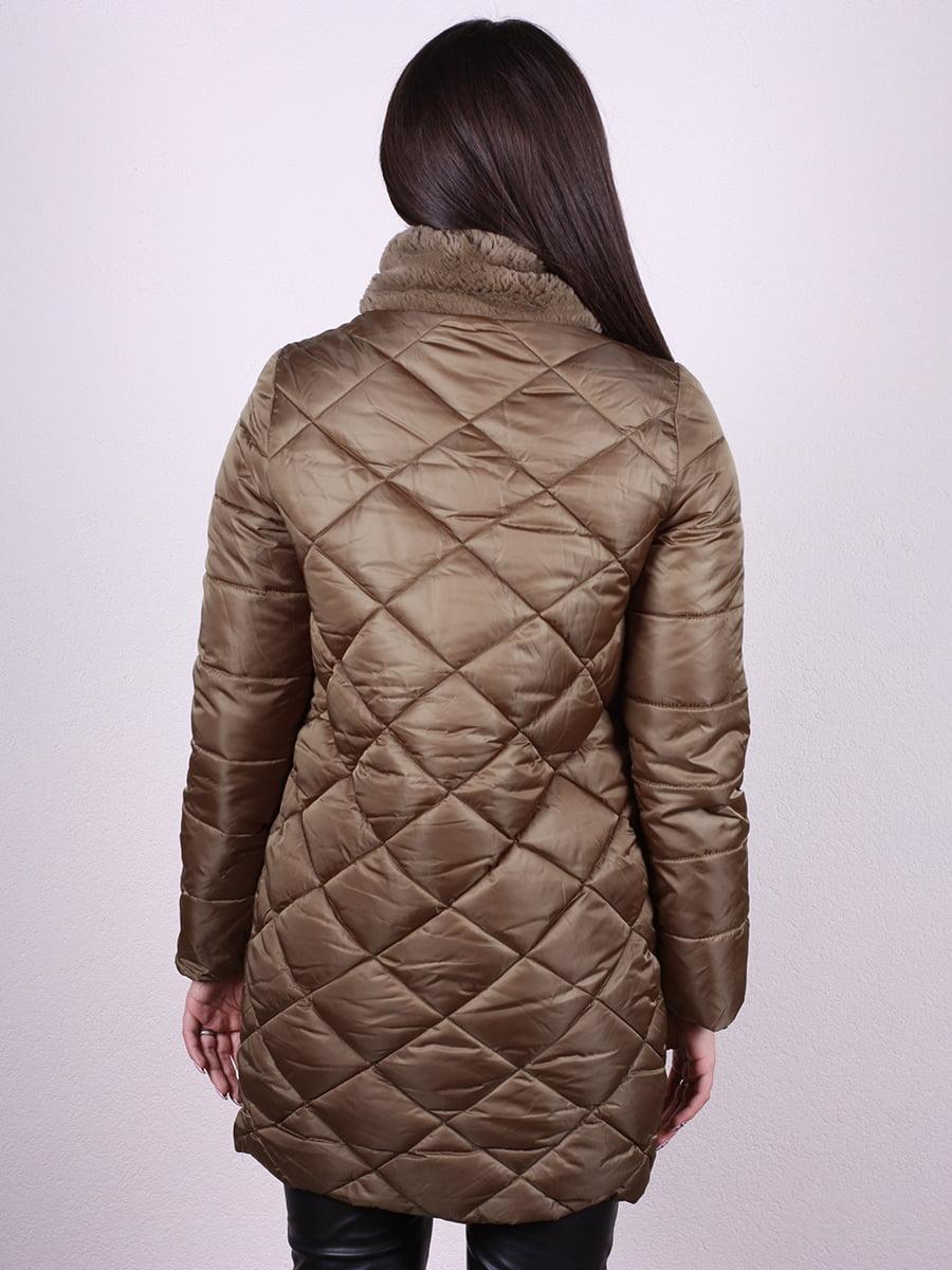 Пальто оливкового цвета   4977720   фото 3