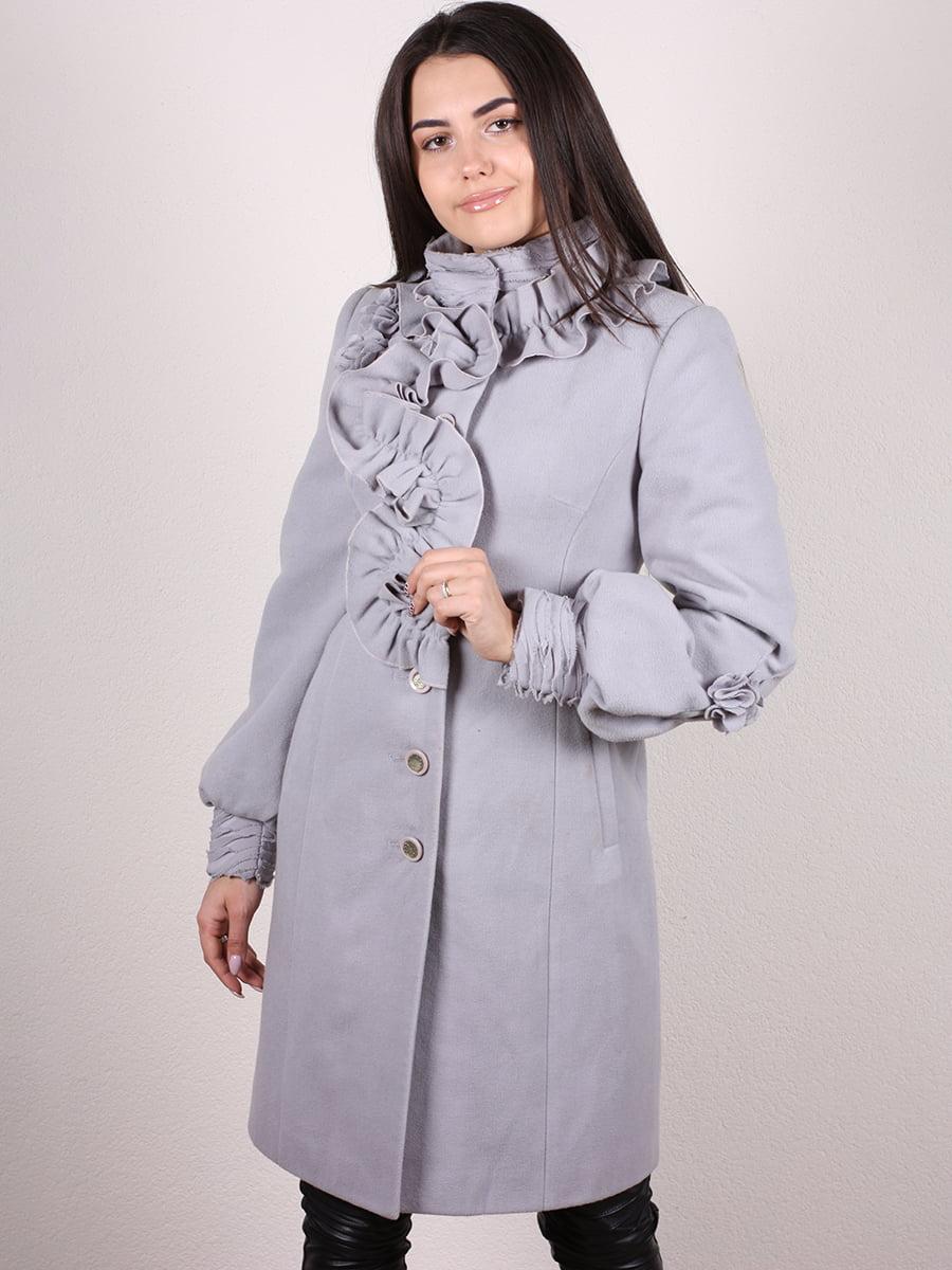 Пальто серо-голубое | 4977758