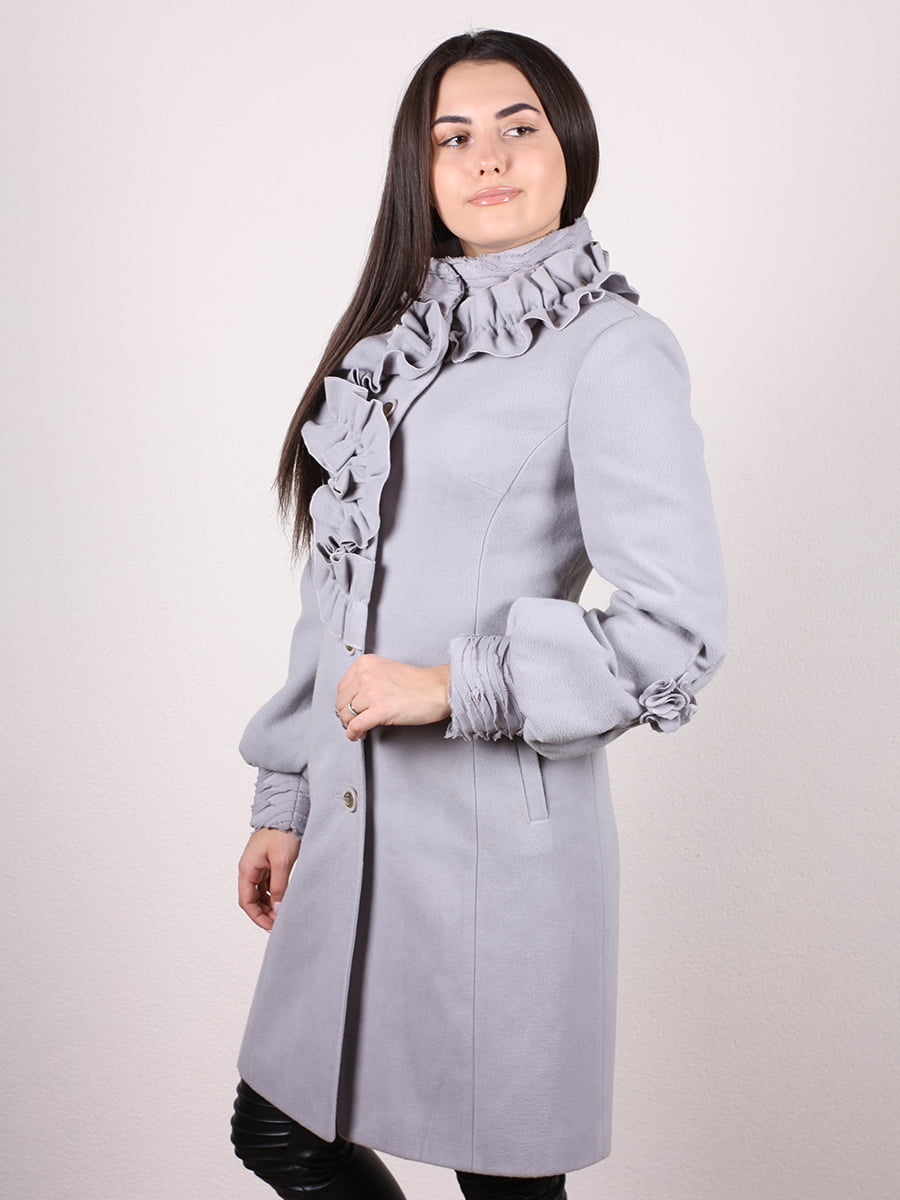 Пальто серо-голубое | 4977758 | фото 2