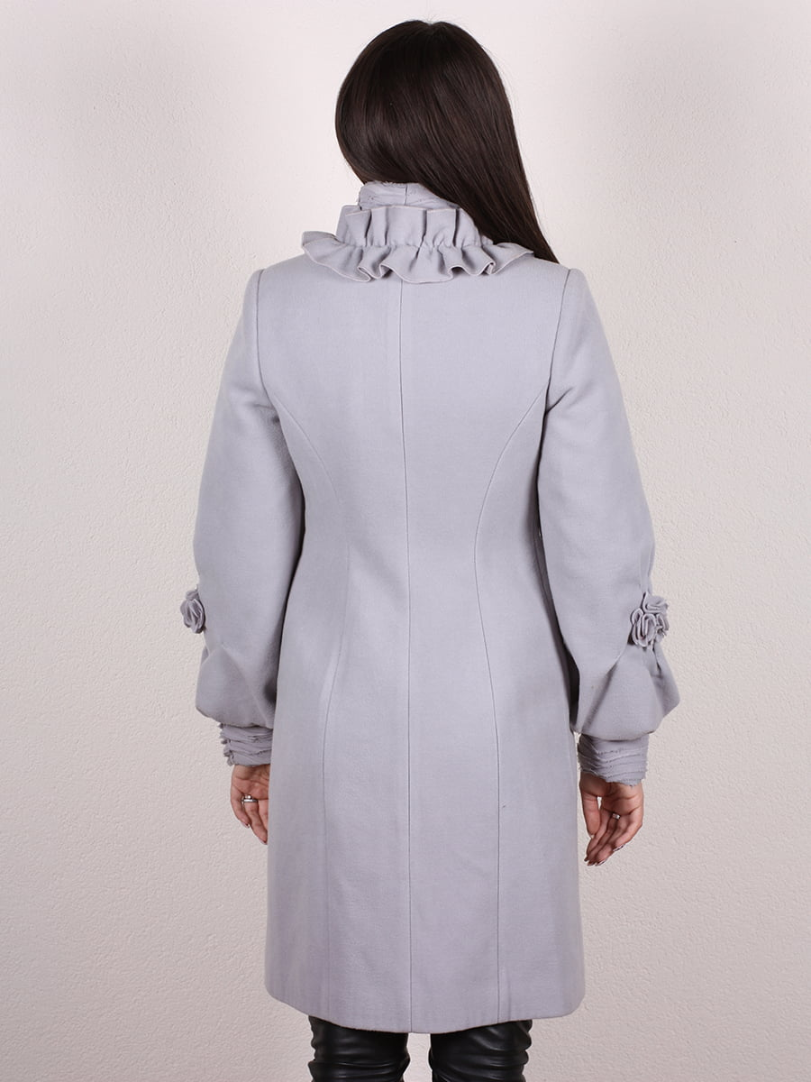 Пальто серо-голубое | 4977758 | фото 3