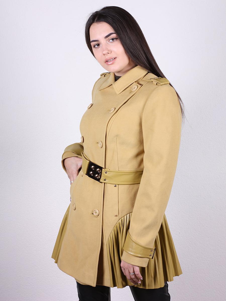 Пальто горчичного цвета | 4977760