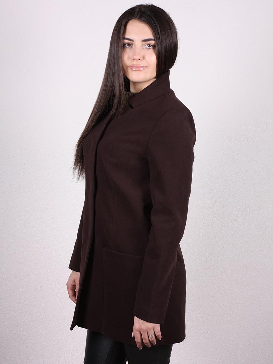 Пальто коричневое | 4977770 | фото 2