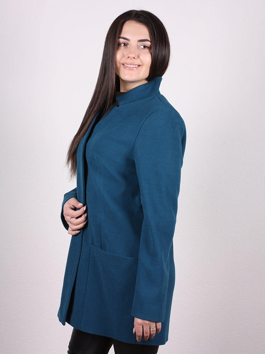 Пальто синее | 4977771 | фото 2