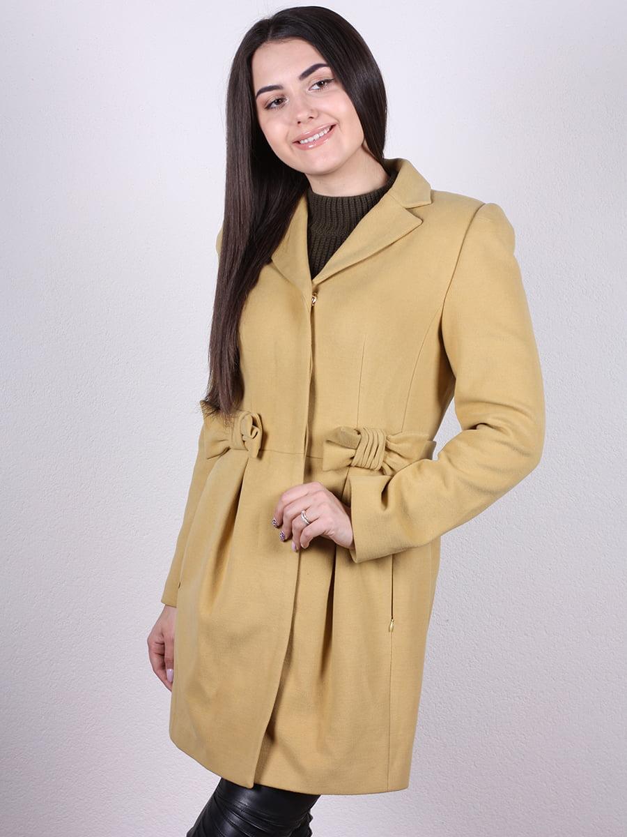 Пальто горчичного цвета | 4977773