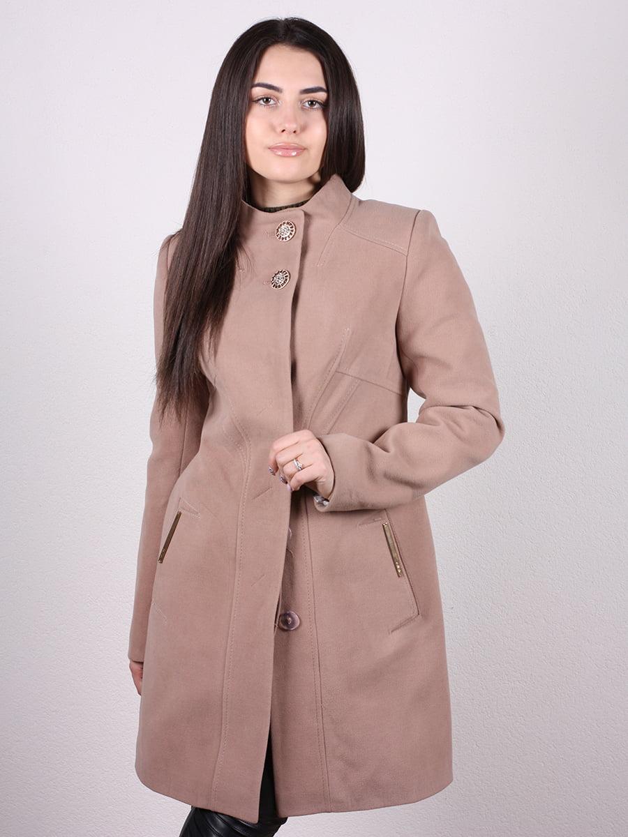 Пальто кофейного цвета   4977775