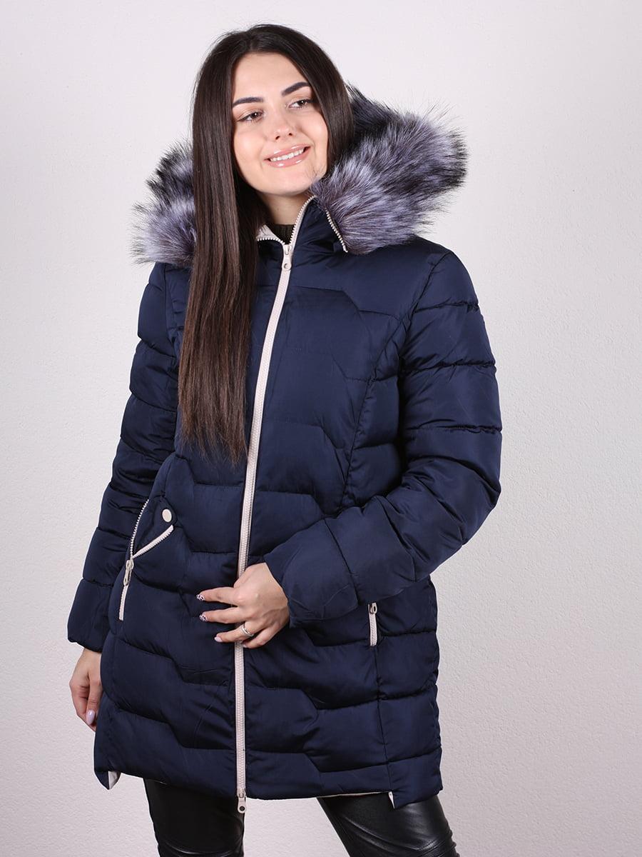Пальто синее | 4977788 | фото 2