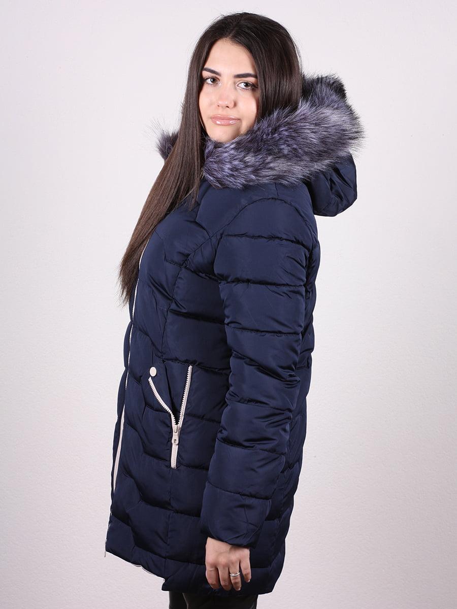Пальто синее | 4977788 | фото 3
