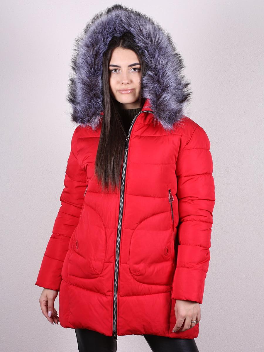 Пальто красное   4977790