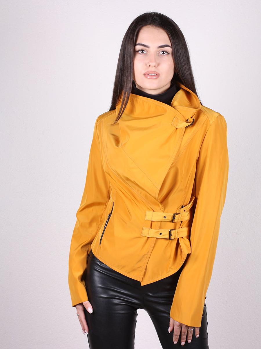 Куртка желтая | 4903750 | фото 4