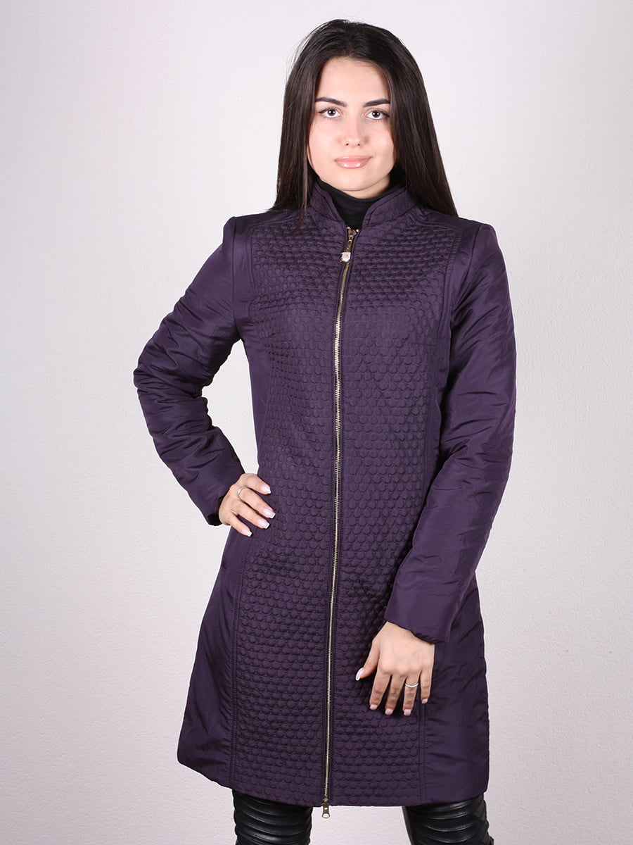 Пальто темно-сиреневый | 4906666