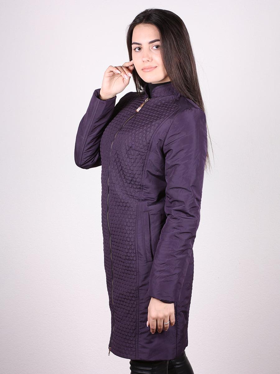 Пальто темно-сиреневый | 4906666 | фото 2