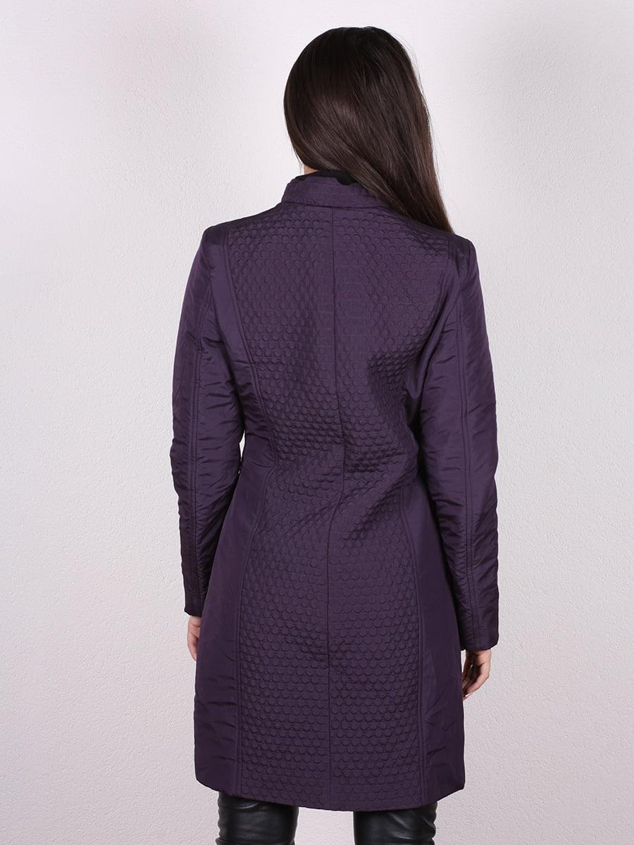 Пальто темно-сиреневый | 4906666 | фото 3