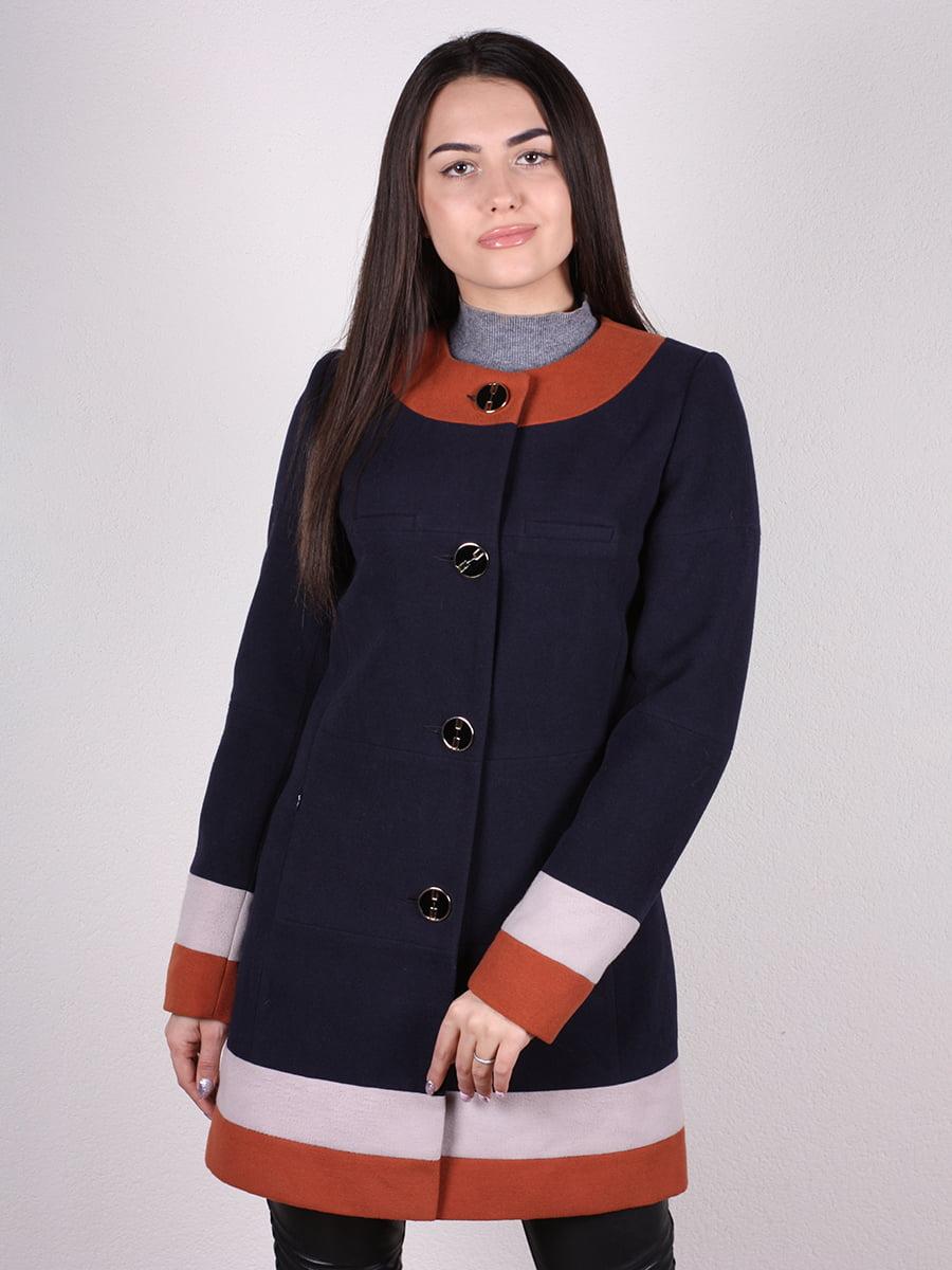 Пальто темно-синее | 4922382 | фото 4