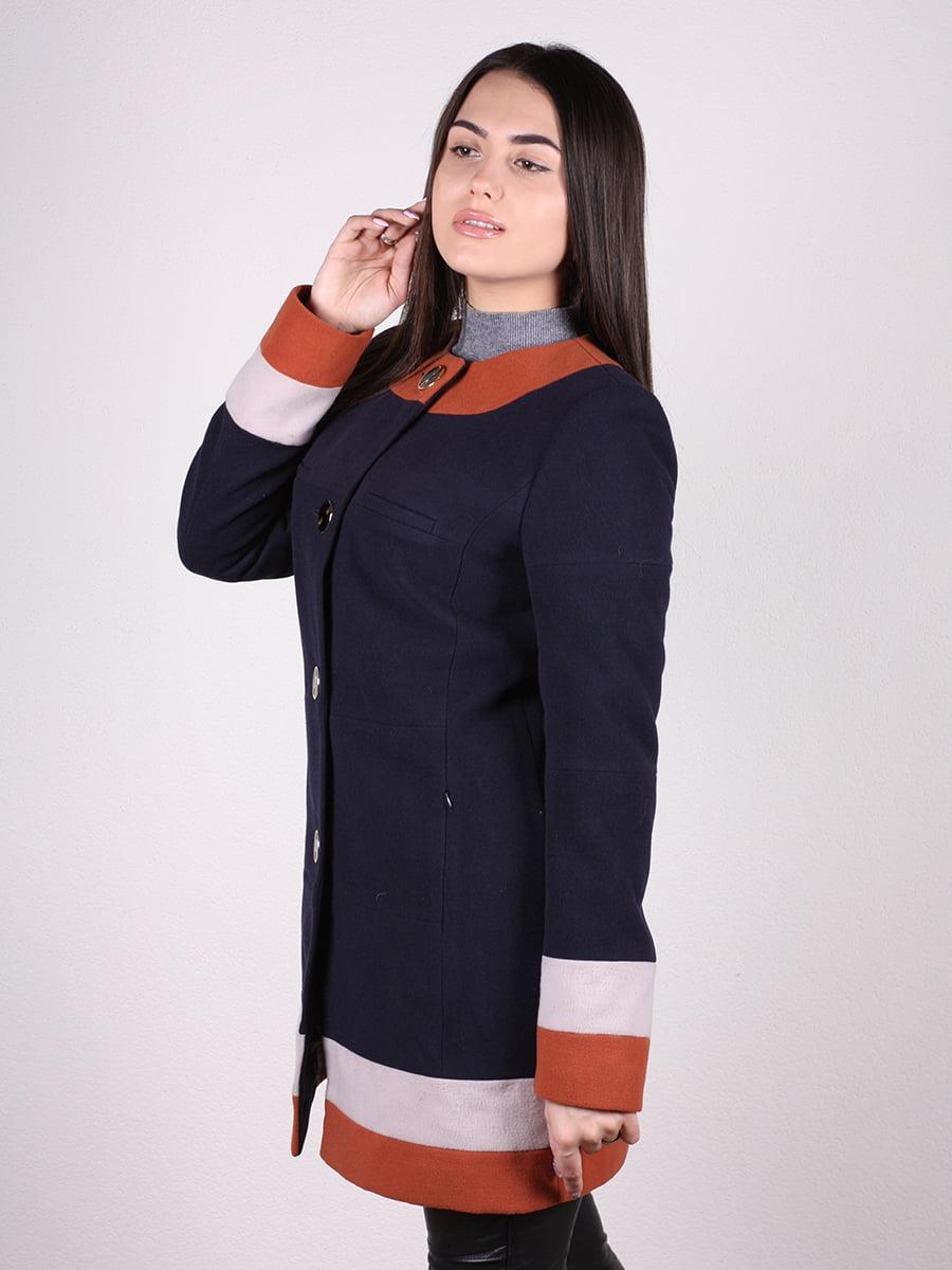 Пальто темно-синее | 4922382 | фото 5