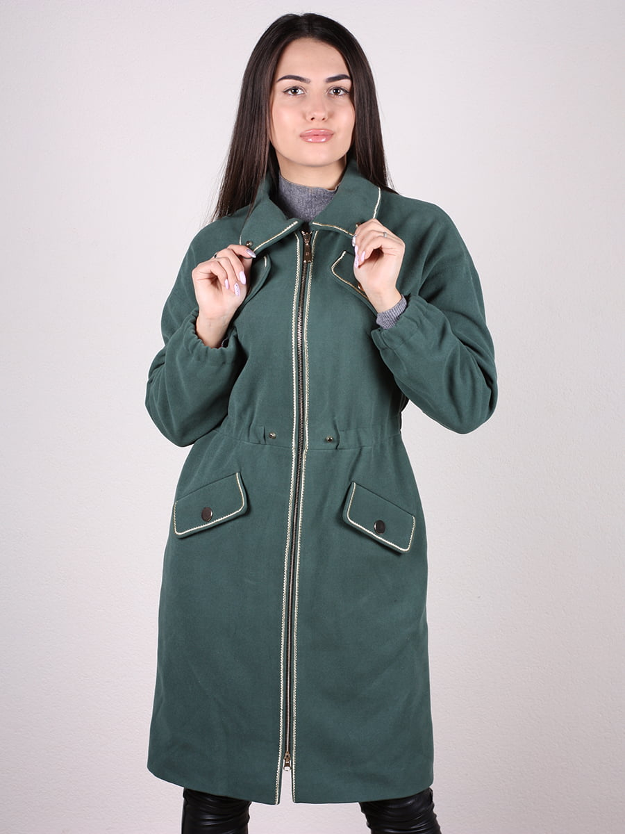 Пальто темно-зеленое | 4922385 | фото 4