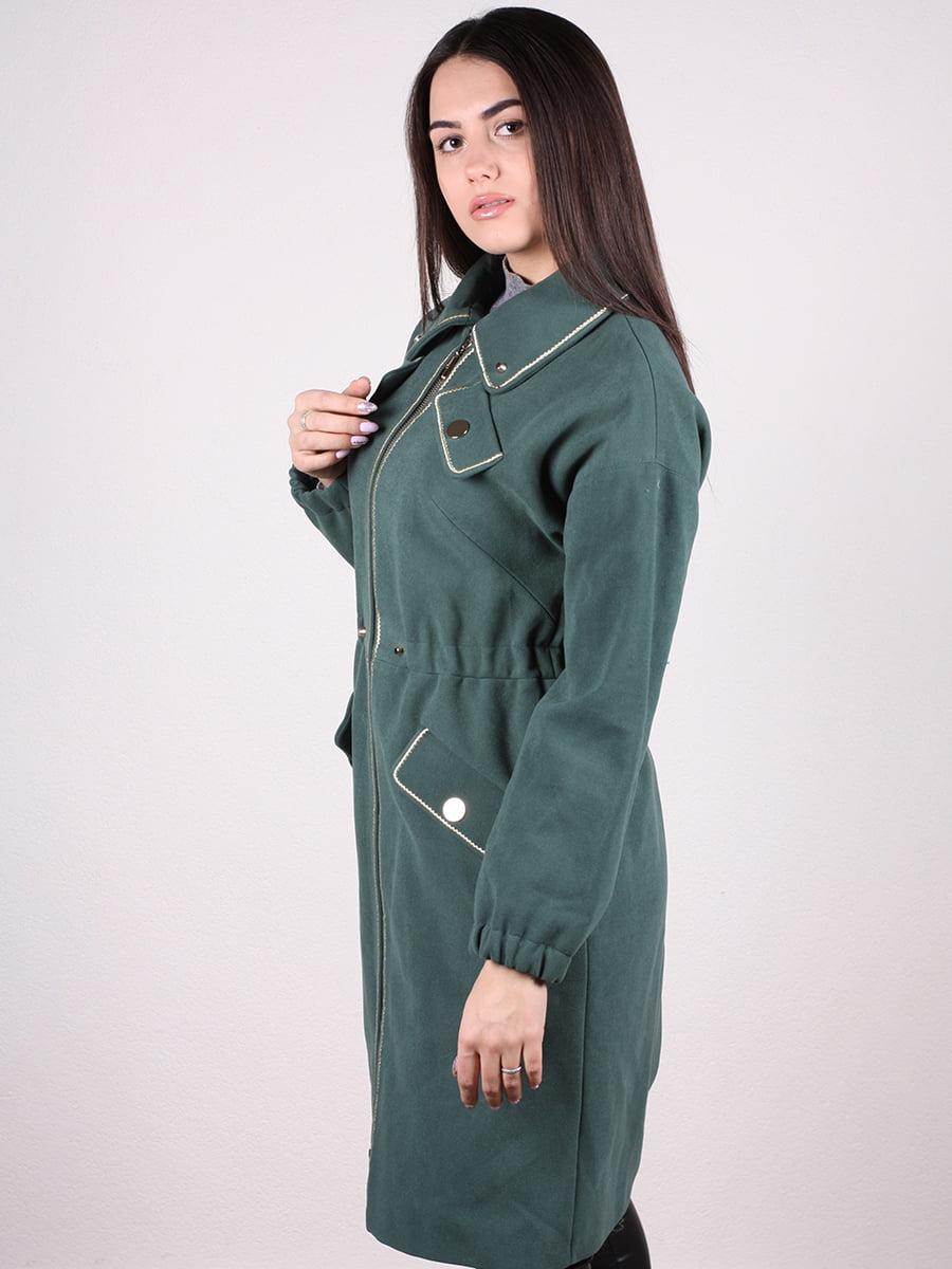 Пальто темно-зеленое | 4922385 | фото 5