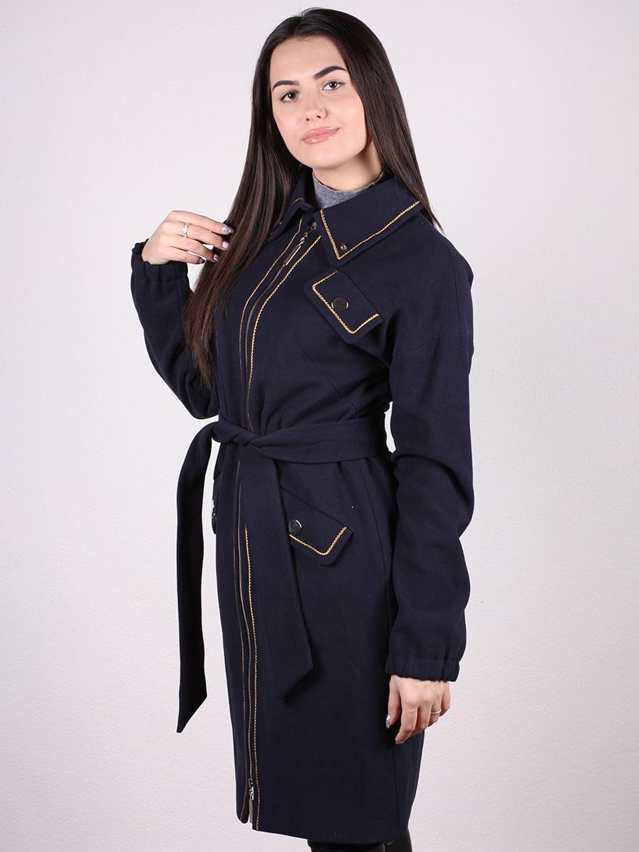 Пальто темно-синее | 4922386 | фото 5