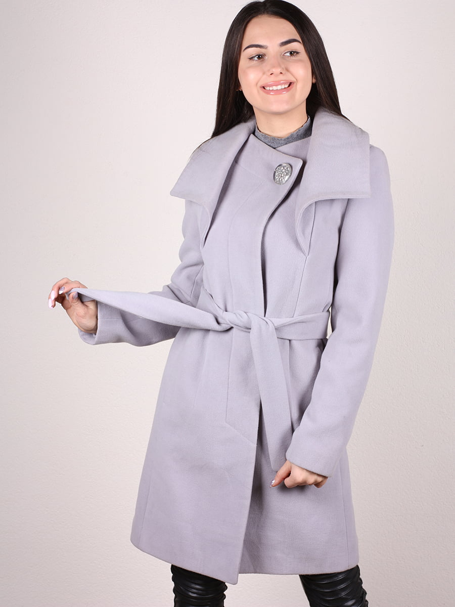 Пальто серое   4922396   фото 4