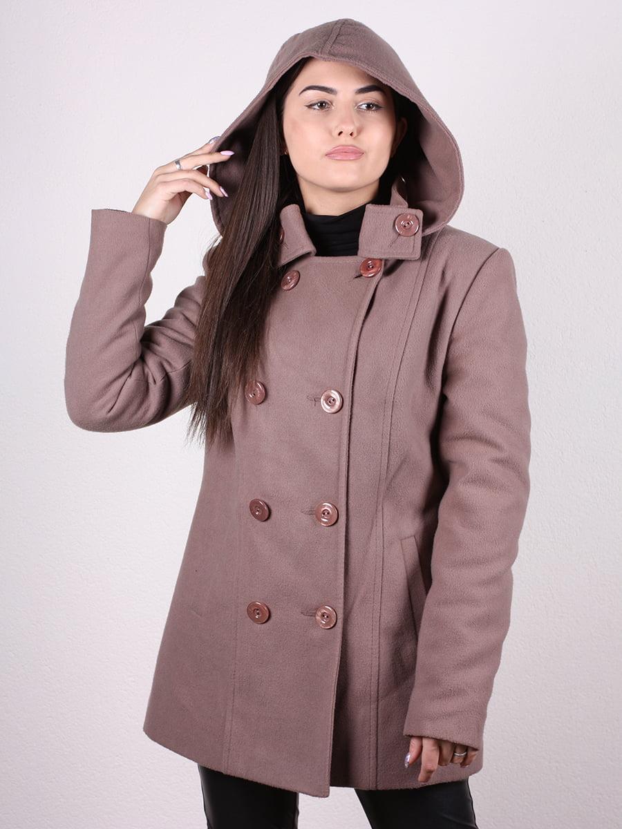 Пальто кофейно-пудрового цвета | 4922424 | фото 8