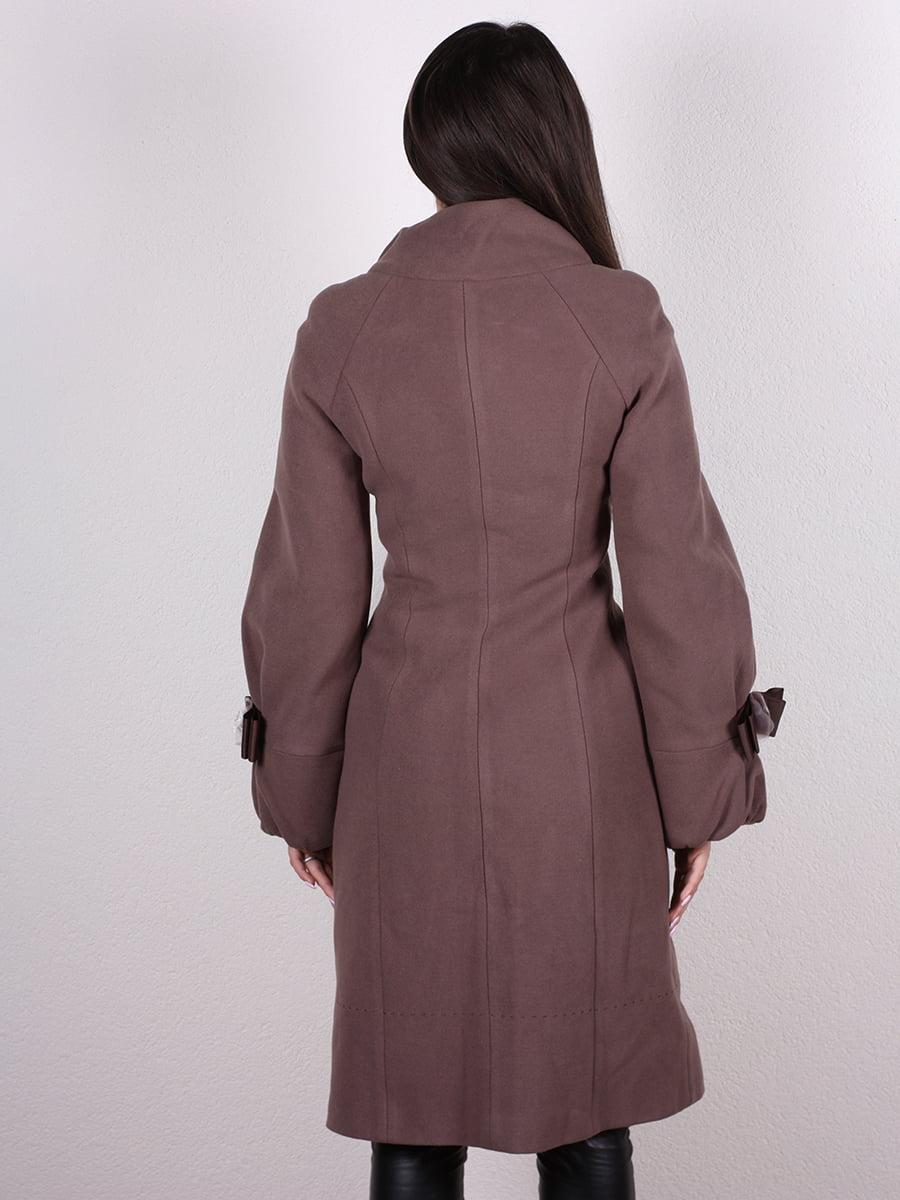 Пальто кофейно-сиреневого цвета | 4922431 | фото 6