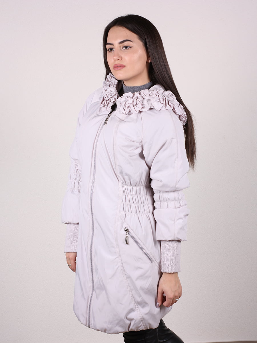 Пальто бежево-серого цвета | 4922457 | фото 4